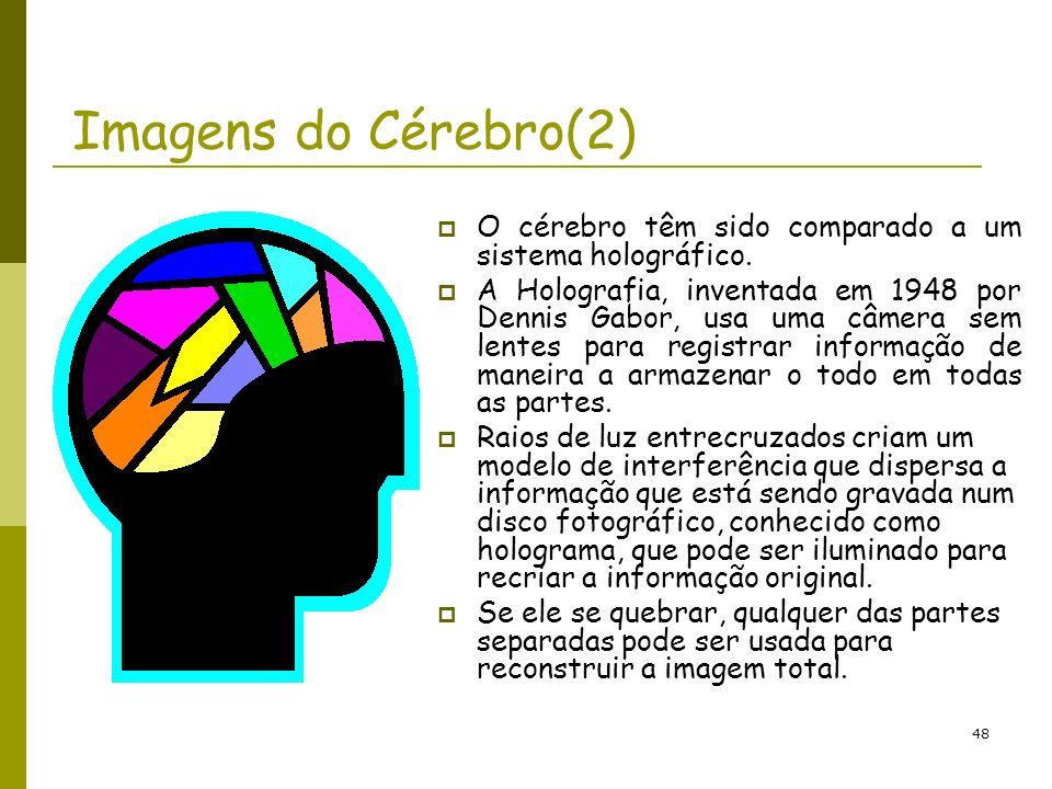 Imagens do Cérebro(2) O cérebro têm sido comparado a um sistema holográfico.