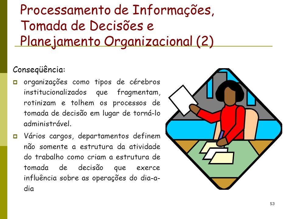 Processamento de Informações, Tomada de Decisões e Planejamento Organizacional (2)