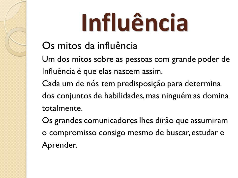 Influência Os mitos da influência