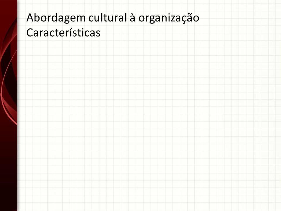 Abordagem cultural à organização