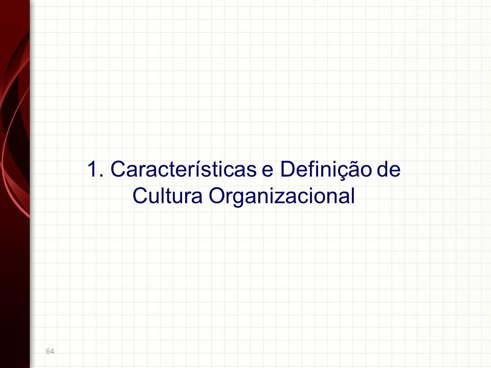 1. Características e Definição de Cultura Organizacional