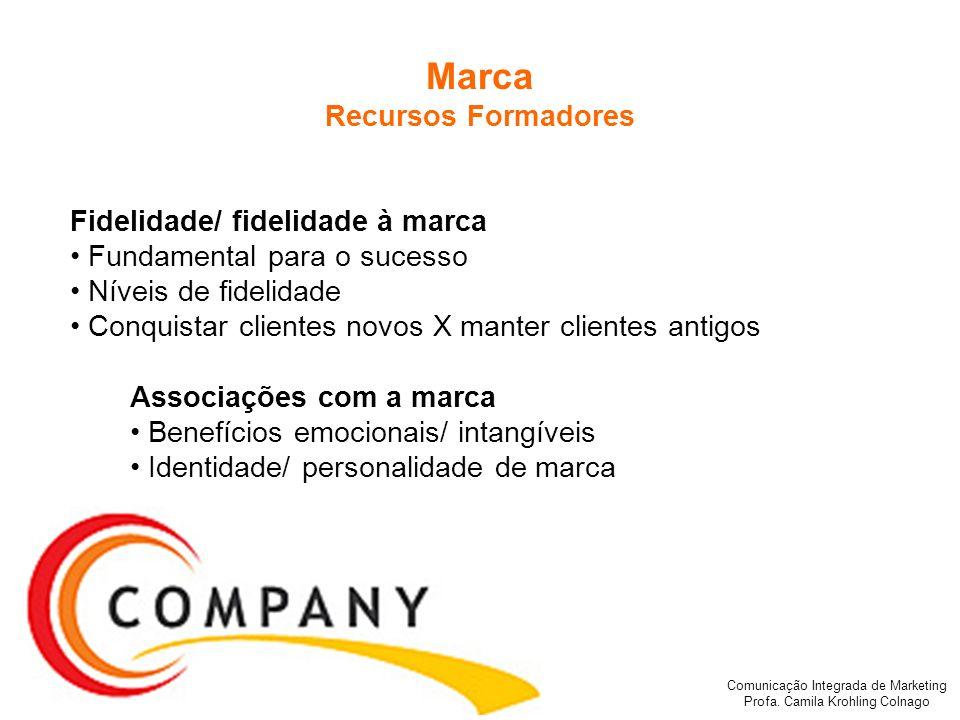 Marca Recursos Formadores Fidelidade/ fidelidade à marca
