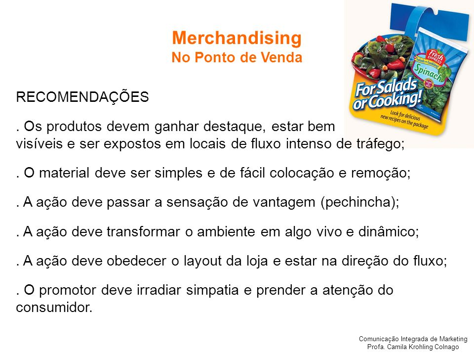 Merchandising No Ponto de Venda RECOMENDAÇÕES