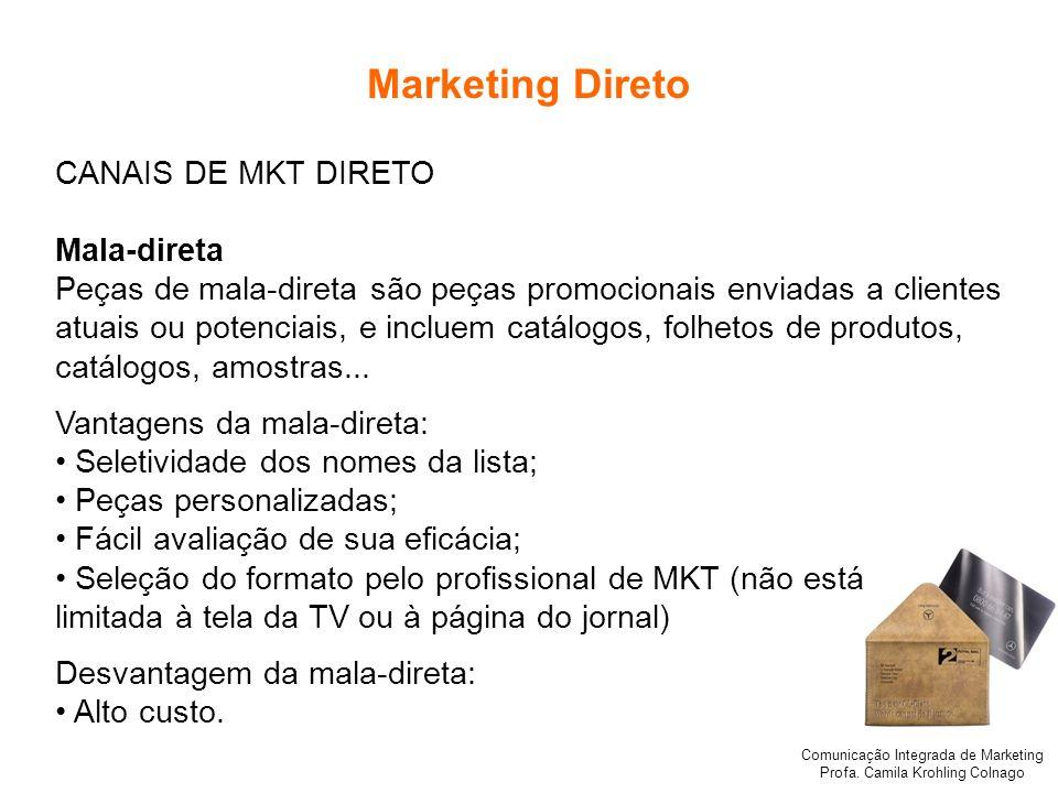 Marketing Direto CANAIS DE MKT DIRETO Mala-direta