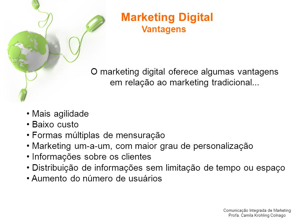 Marketing Digital Vantagens
