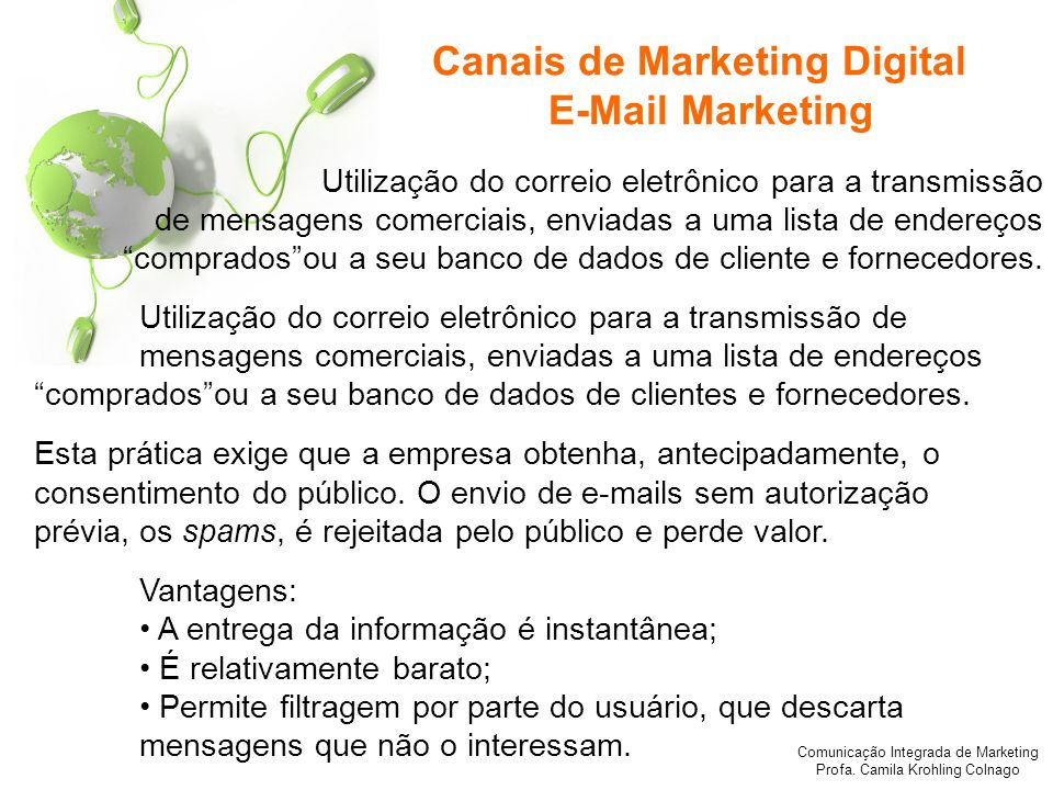 Canais de Marketing Digital E-Mail Marketing