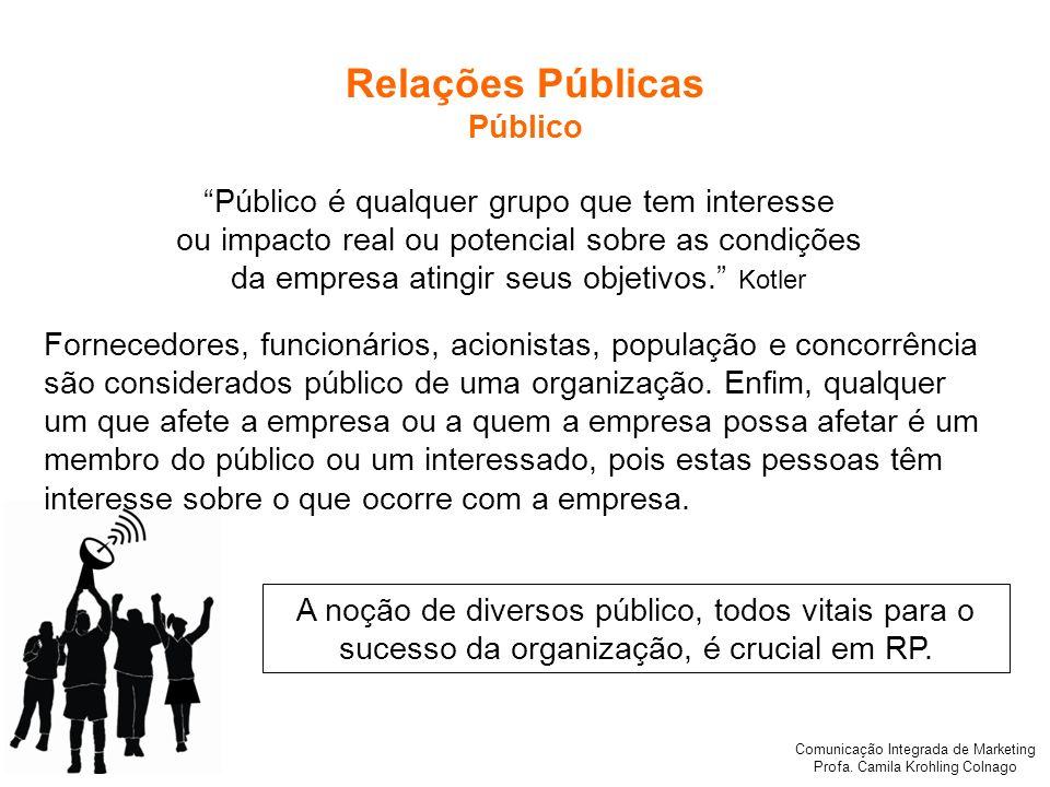 Relações Públicas Público Público é qualquer grupo que tem interesse