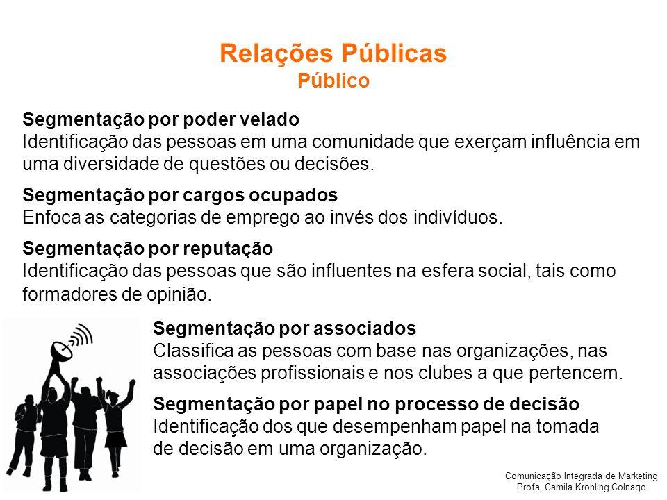 Relações Públicas Público Segmentação por poder velado