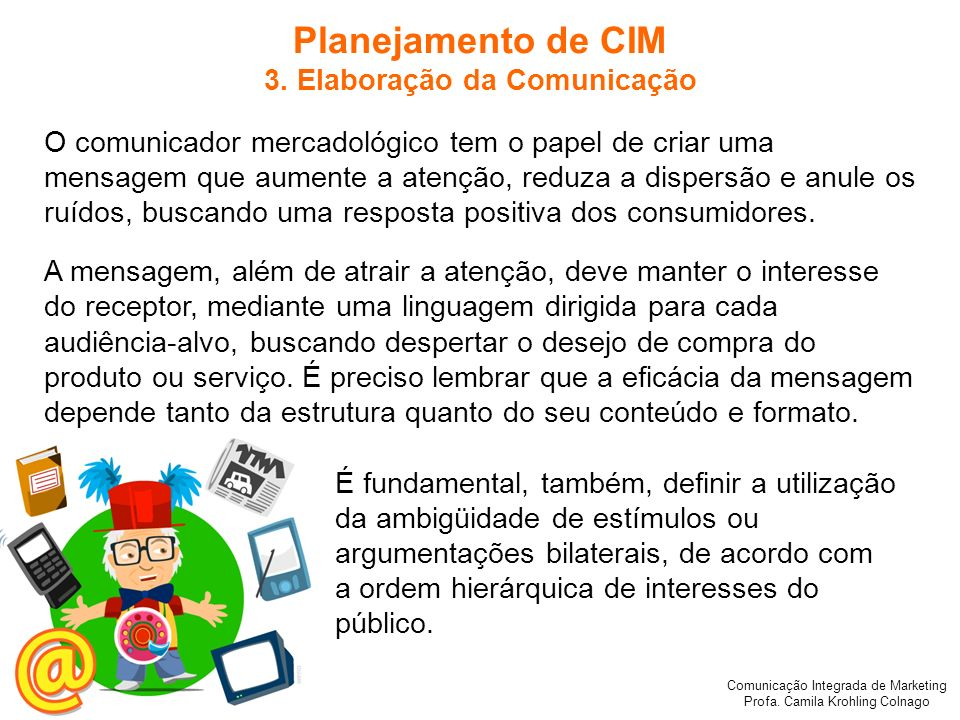3. Elaboração da Comunicação