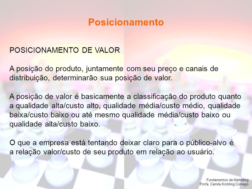 Posicionamento POSICIONAMENTO DE VALOR