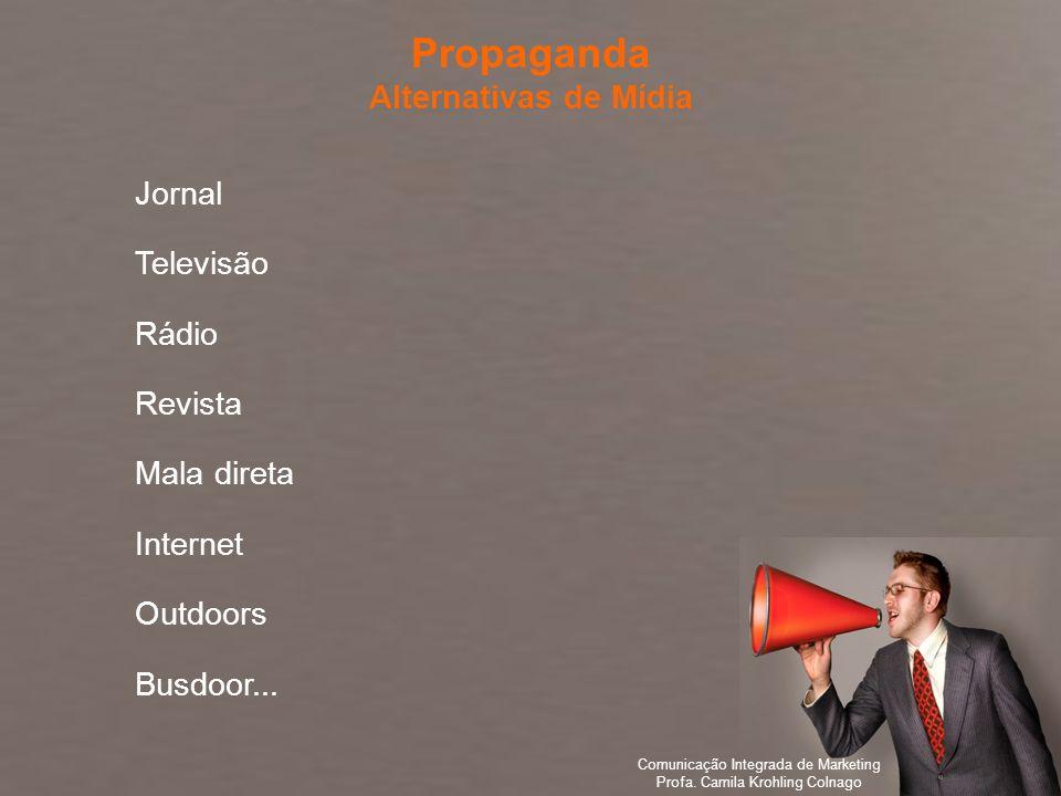 Propaganda Alternativas de Mídia Jornal Televisão Rádio Revista