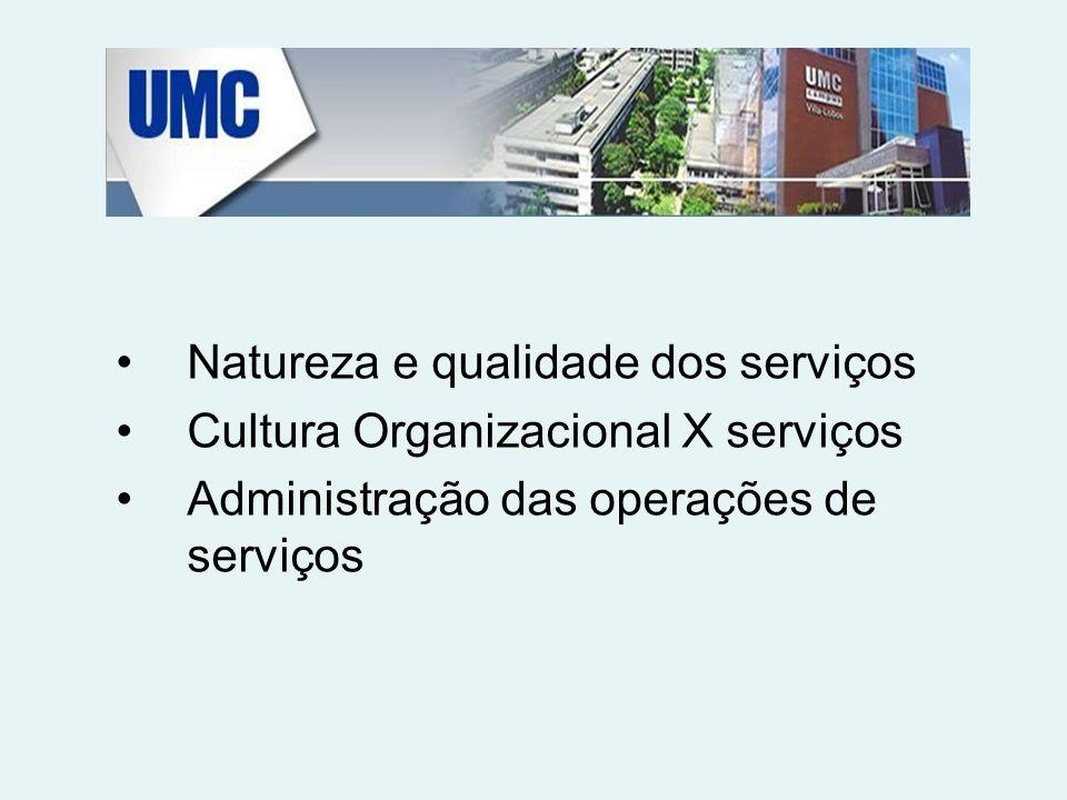 Natureza e qualidade dos serviços