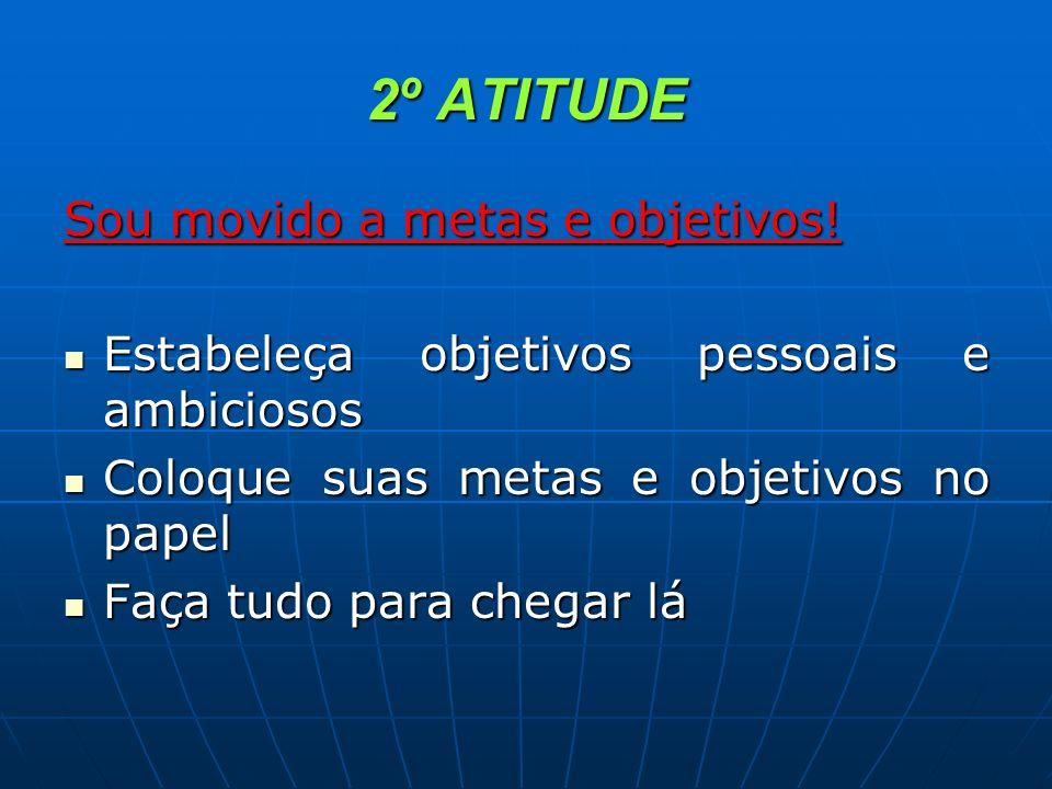 2º ATITUDE Sou movido a metas e objetivos!