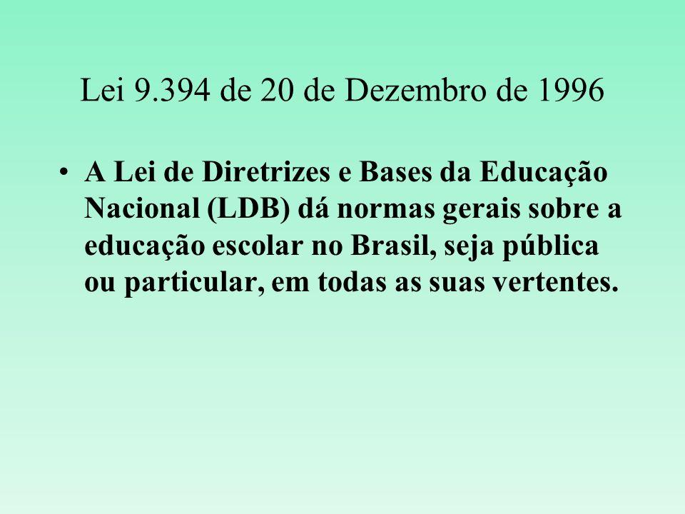 Lei 9.394 de 20 de Dezembro de 1996