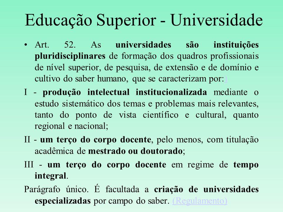 Educação Superior - Universidade