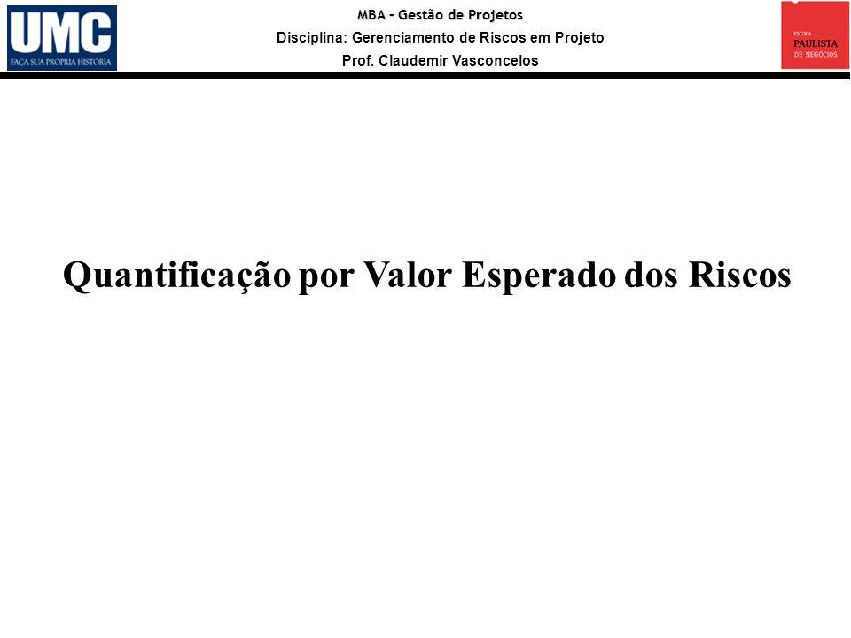 Quantificação por Valor Esperado dos Riscos