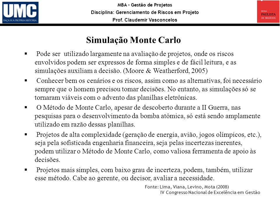 Simulação Monte Carlo