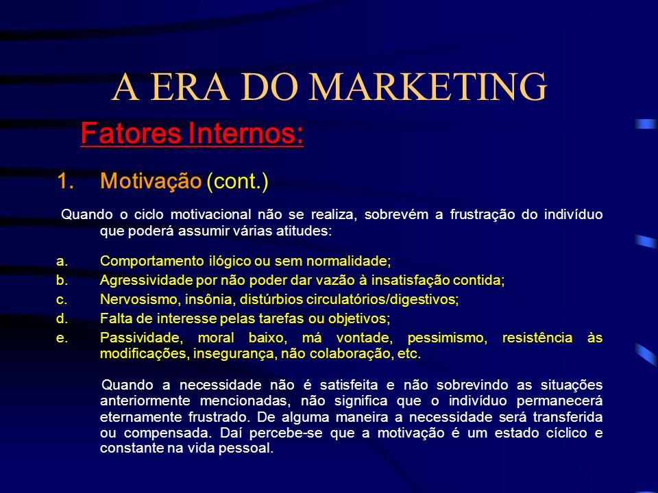 A ERA DO MARKETING Fatores Internos: Motivação (cont.)
