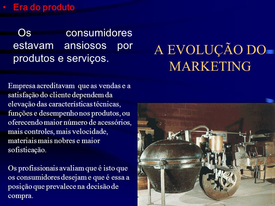 A EVOLUÇÃO DO MARKETING