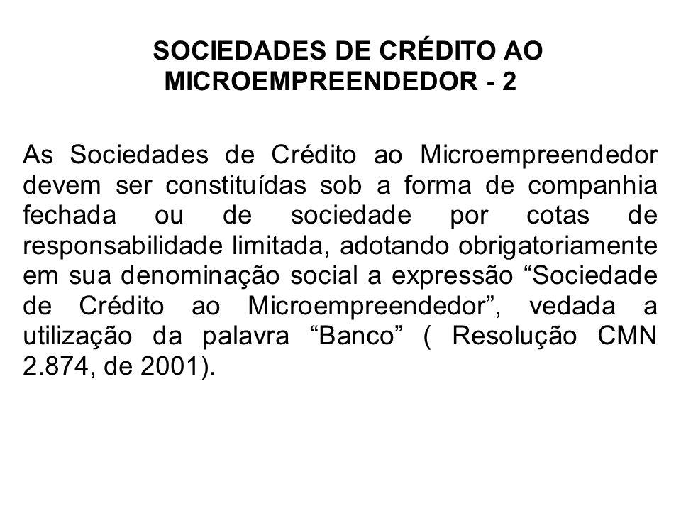 SOCIEDADES DE CRÉDITO AO MICROEMPREENDEDOR - 2