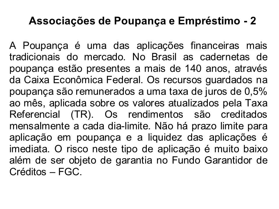 Associações de Poupança e Empréstimo - 2