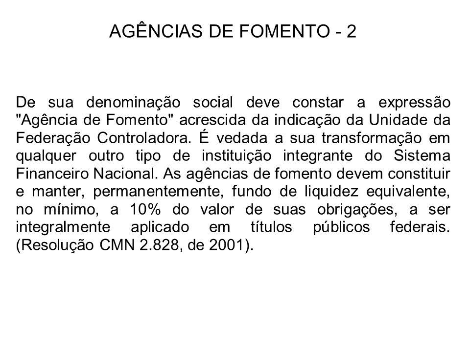 AGÊNCIAS DE FOMENTO - 2