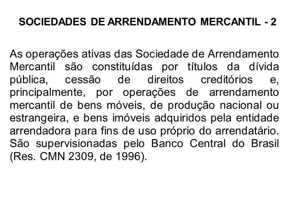 SOCIEDADES DE ARRENDAMENTO MERCANTIL - 2
