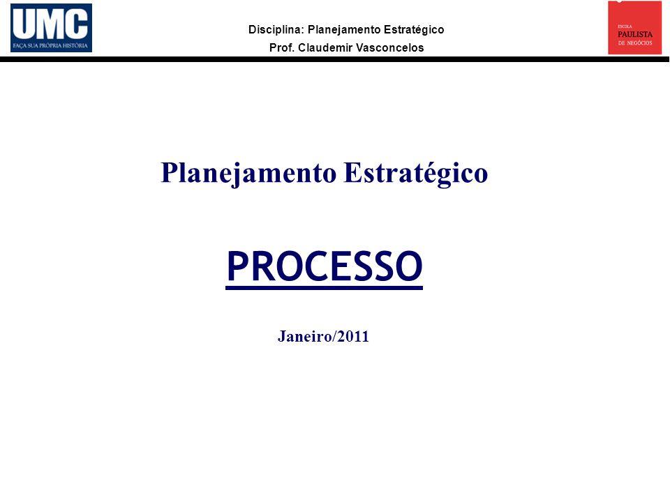 Planejamento Estratégico PROCESSO Janeiro/2011