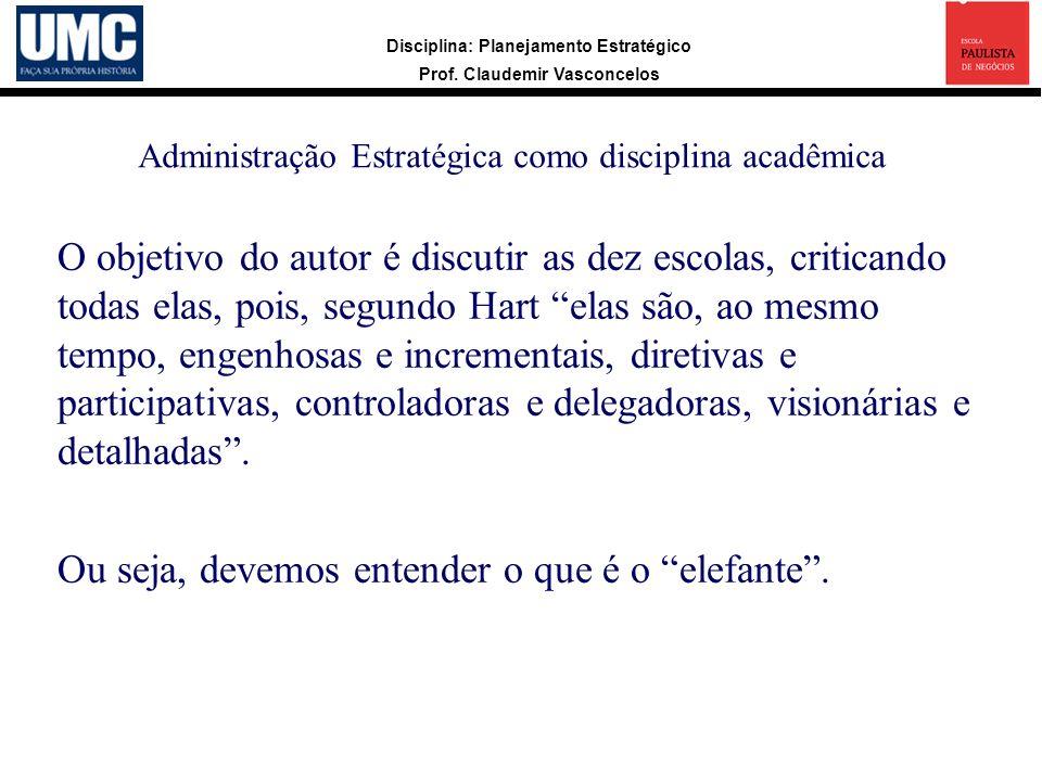 Administração Estratégica como disciplina acadêmica
