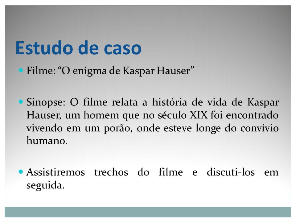 Estudo de caso Filme: O enigma de Kaspar Hauser
