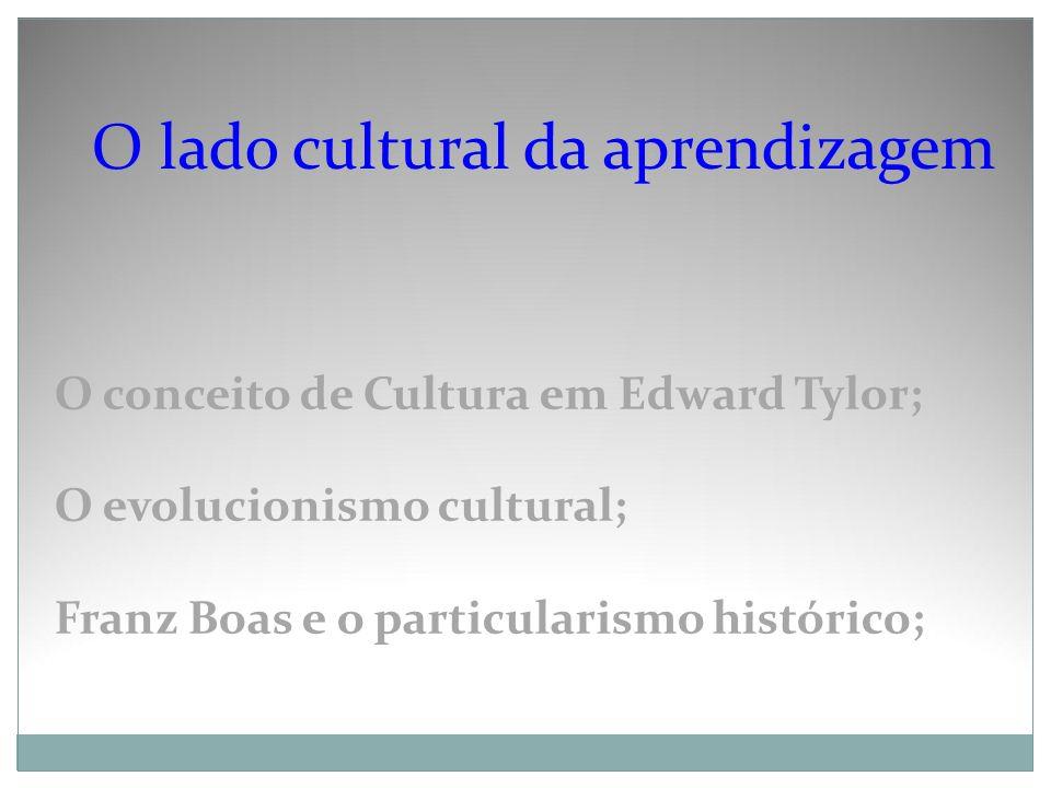 O lado cultural da aprendizagem