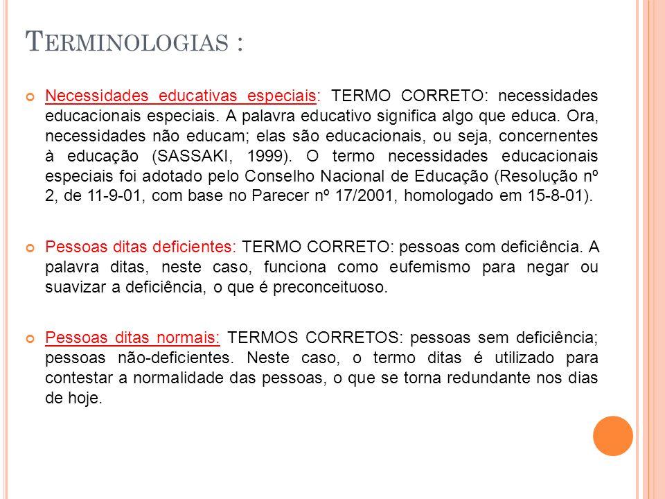Terminologias :