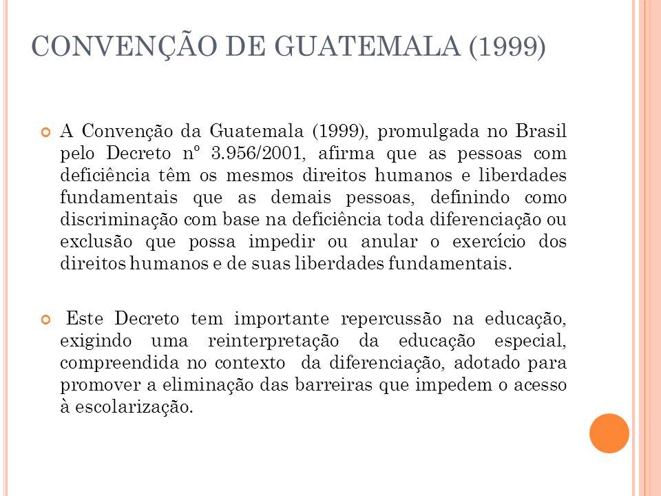 CONVENÇÃO DE GUATEMALA (1999)