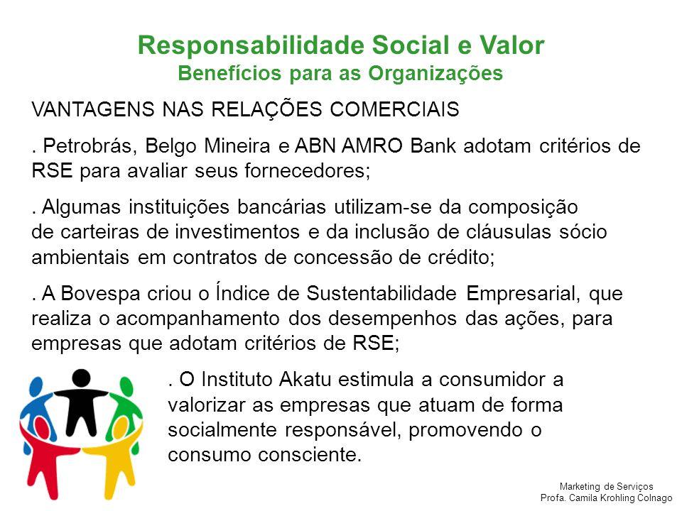 Responsabilidade Social e Valor Benefícios para as Organizações