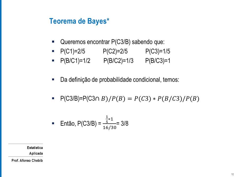 Teorema de Bayes*