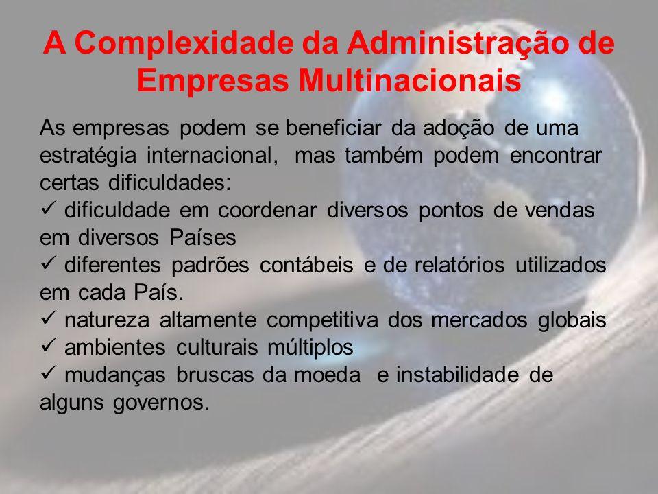 A Complexidade da Administração de Empresas Multinacionais