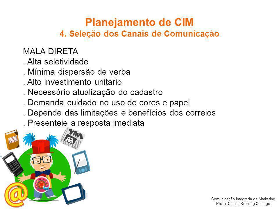 4. Seleção dos Canais de Comunicação