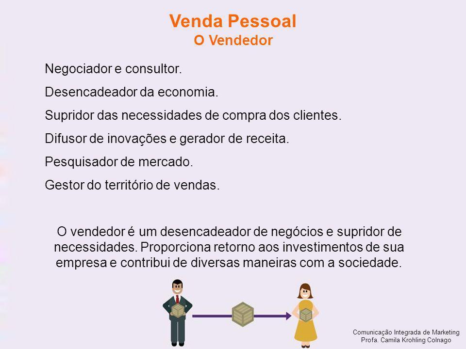 Venda Pessoal O Vendedor Negociador e consultor.