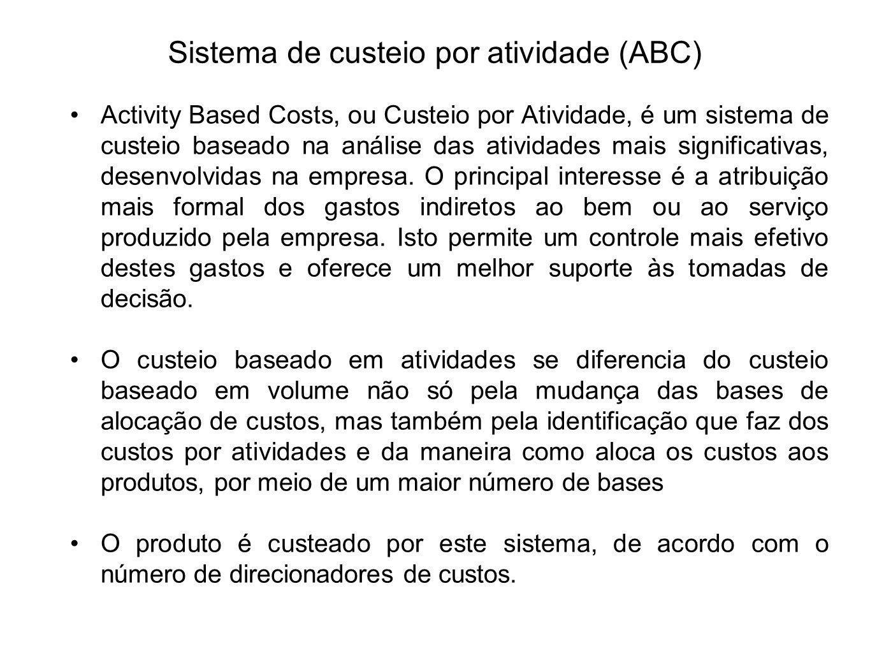 Sistema de custeio por atividade (ABC)