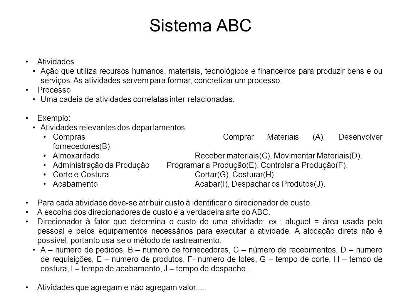 Sistema ABC Atividades
