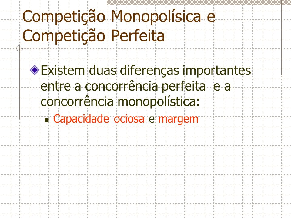 Competição Monopolísica e Competição Perfeita