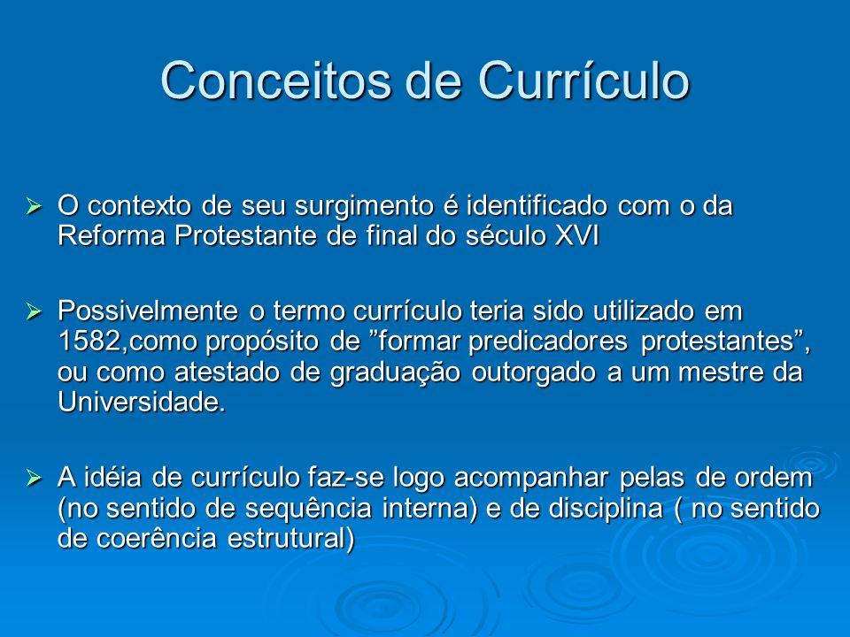 Conceitos de Currículo