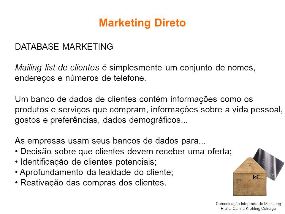 Marketing Direto DATABASE MARKETING