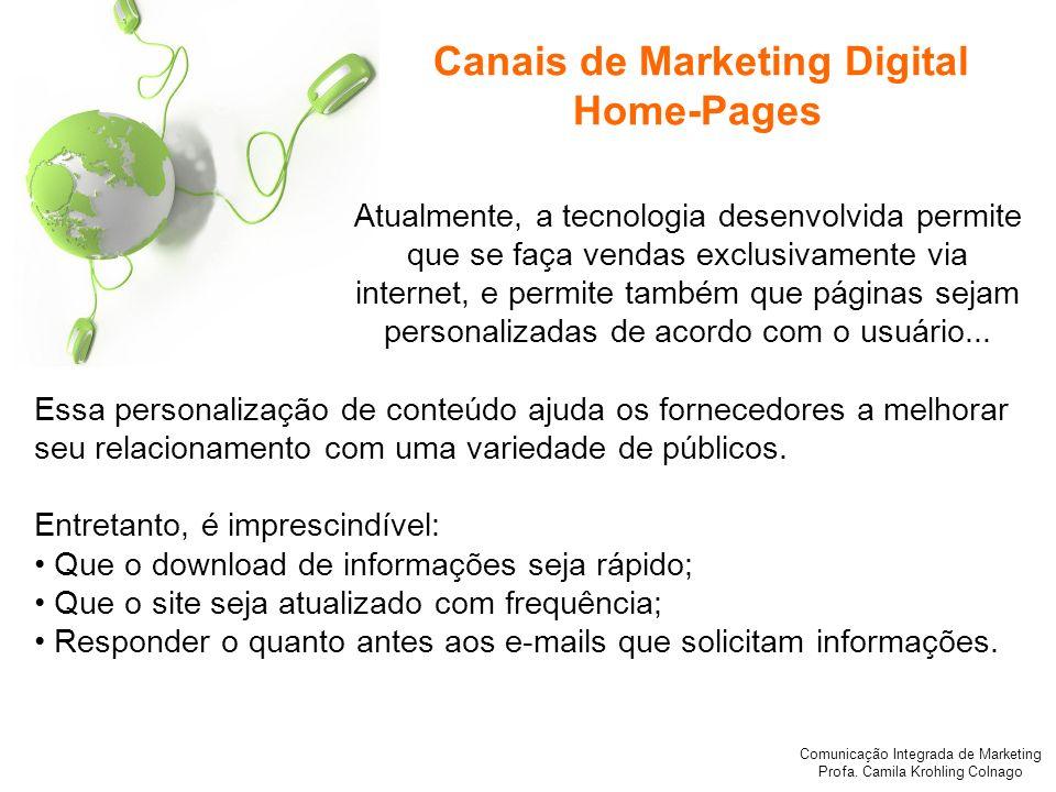Canais de Marketing Digital Home-Pages