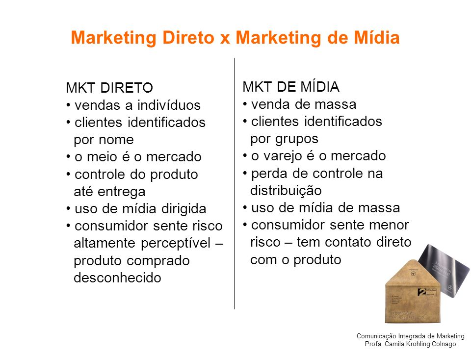 Marketing Direto x Marketing de Mídia