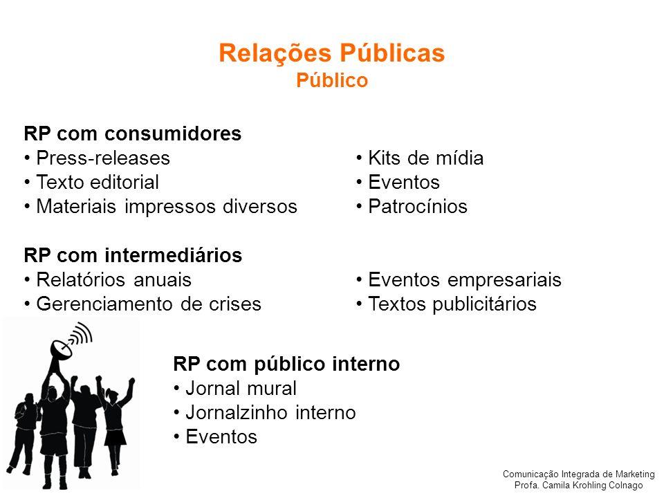 Relações Públicas Público RP com consumidores