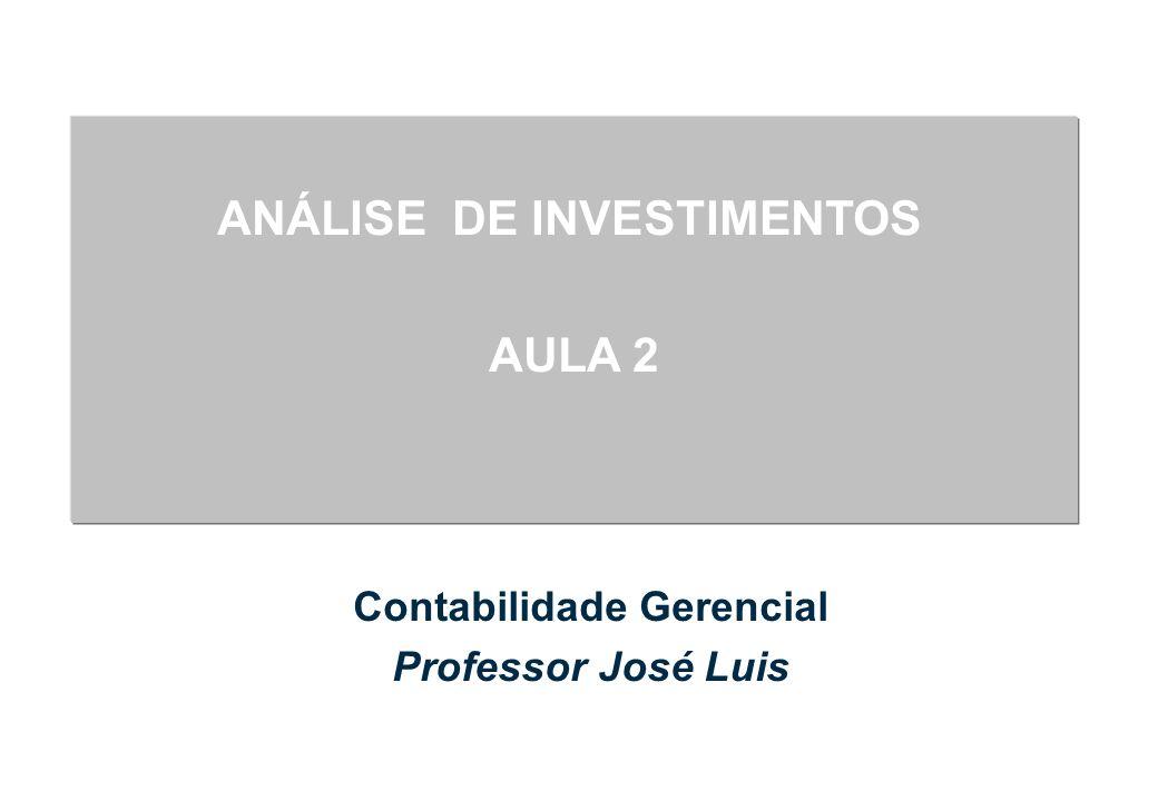 Ementa Técnicas de Análise de Investimento Valor do dinheiro no tempo