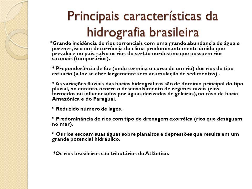 Principais características da hidrografia brasileira