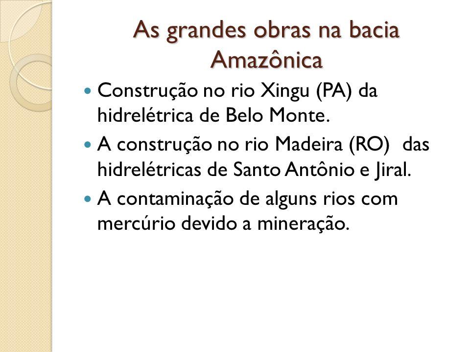 As grandes obras na bacia Amazônica