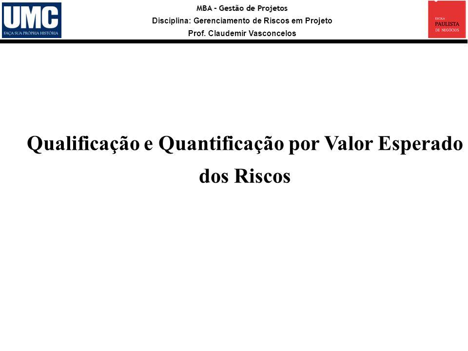 Qualificação e Quantificação por Valor Esperado dos Riscos